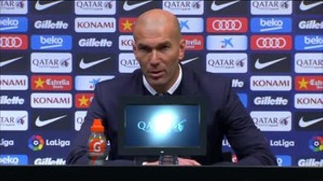Zidane: No sé si el resultado es justo o no, es lo que hay