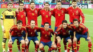 La selección española, en la Eurocopa de 2012