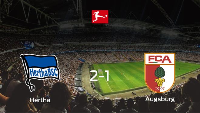 El Hertha Berlín consigue la victoria en casa frente al FC Augsburg (2-1)