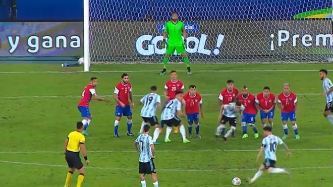 El golazo de Leo Messi para adelantar a Argentina