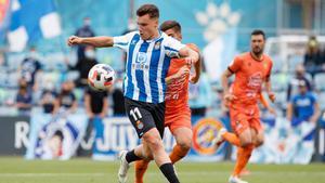 Jutglà, en un partido con el RCD Espanyol B