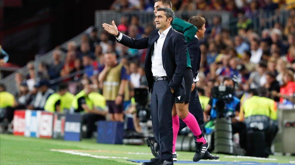 Ernesto Valverde resaltó la remontada del equipo azulgrana