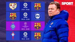 El Barça afronta cuatro partidos muy importantes para evitar el desastre absoluto