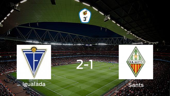 El Igualada vence 2-1 en su estadio frente al Sants