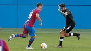 Rey Manaj anotó un hat-trick en 45 minutos contra el Nàstic de Tarragona