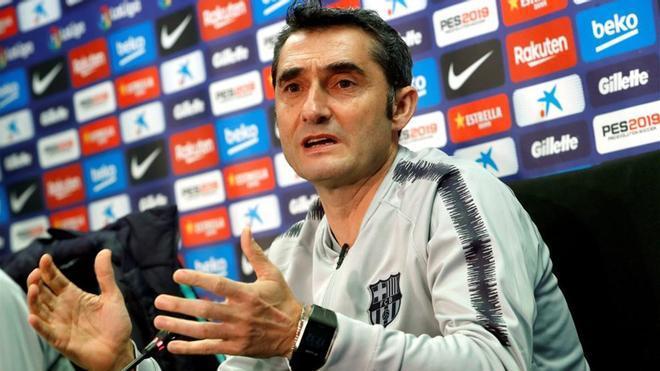 Valverde, en la sala de prensa de Sant Joan Despí