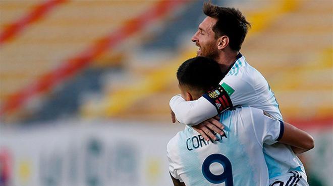 La felicidad de Messi al finalizar el partido ante Bolivia