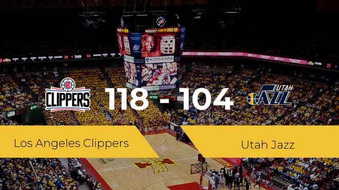 Los Angeles Clippers gana a Utah Jazz por 118-104
