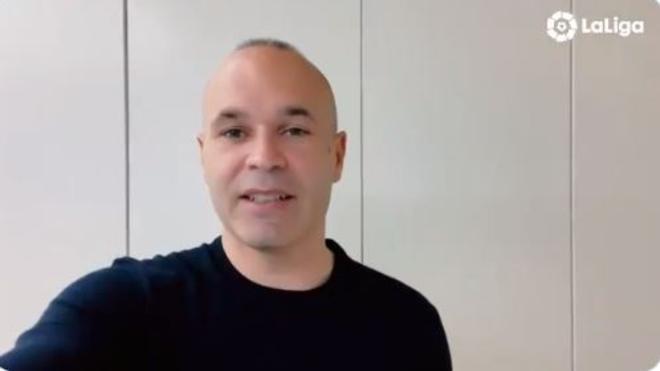 Andrés Iniesta, en el vídeo de LaLiga