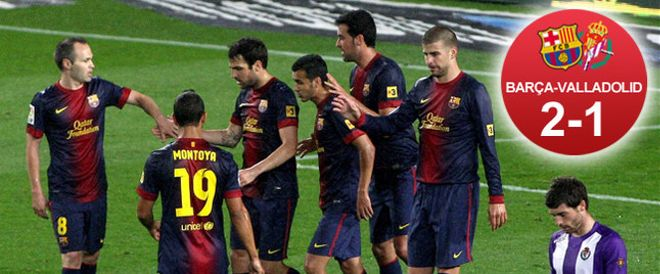 El Barça pudo celebrar un nuevo triunfo en la Liga para celebrar el título recién conquistado