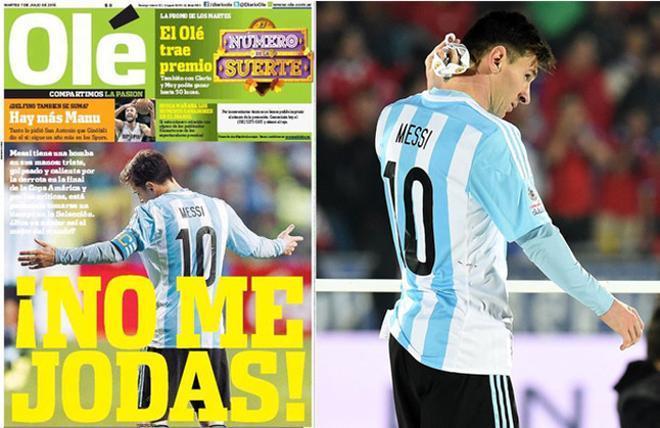 Messi podría renunciar a la selección argentina