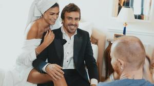 Fernando Alonso, con su novia Linda Morselli