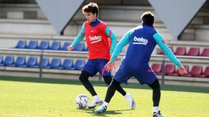 EL Barcelona prepara el partido ante el Elche