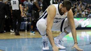 Marc Gasol pasa por una mala racha con sus Grizzlies