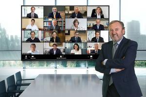 Josep Mateu y su junta directiva del RACC