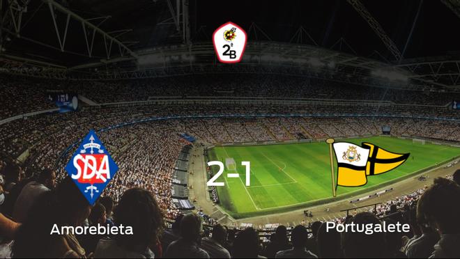 El Amorebieta gana 2-1 en su estadio ante el Portugalete