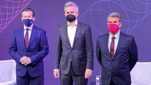 Los tres candidatos a la presidencia del Barça mantendrán hoy un debate