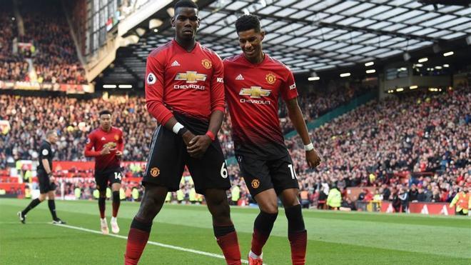 Pogba y Rashford, jugadores clave del Manchester United, listos para volver