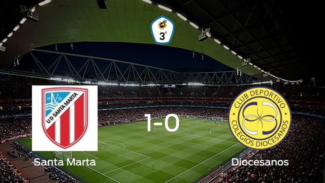 Victoria del Santa Marta por la mínima ante el CD Diocesanos (1-0)