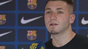 Las primeras palabras de Antonio Aranda como jugador del Barça B