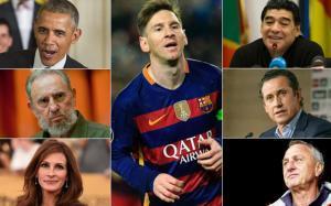 Leo Messi ha recibido elogios de todos los ámbitos de la sociedad