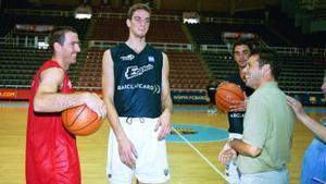 Joan Montes, junto a Pau, Nacho Rodríguez y Navarro