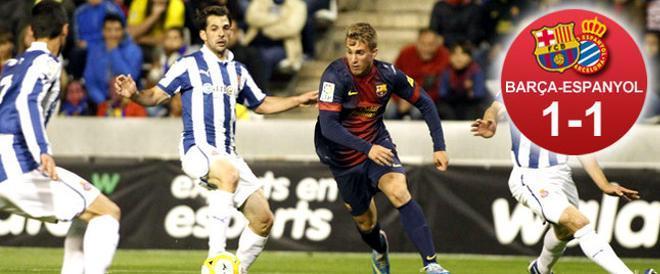 El Barça tiró de la cantera en el primer tiempo y sacó a la artillería en el segundo para remontar y adjudicarse la Copa Catalunya ante el Espanyol