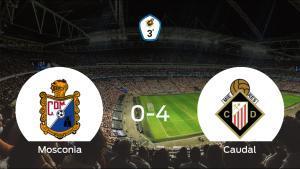 El Caudal Deportivo suma tres puntos tras pasar por encima del Mosconia (0-4)