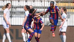Así ha marcado Asisat Oshoala el gol número 100 del Barça en la Champions