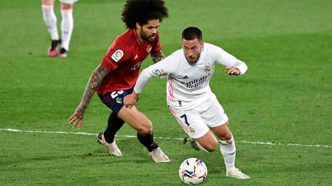 Hazard regresó al once titular en el último partido contra Osasuna