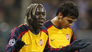 Sagna y Cesc, en su etapa como compañeros en el Arsenal