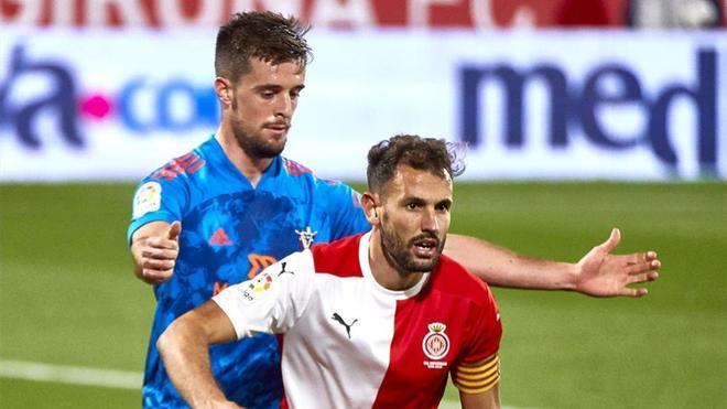 Stuani durante el partido de La Liga SmartBank entre Girona y Mirandés