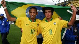 Neymar y Coutinho coincidieron en el MIC