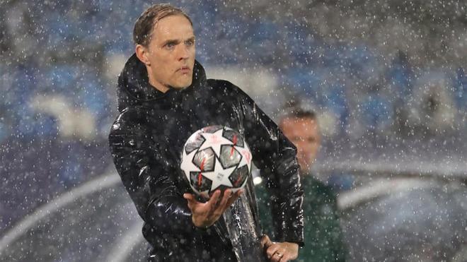 Thomas Tuchel, durante el partido de ida de la eliminatoria entre Real Madrid y Chelsea.