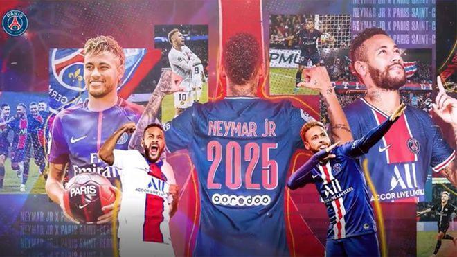 Así ha anunciado el PSG la renovación de Neymar
