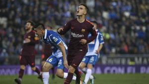 Denis Suárez disputó su último partido ante el Espanyol
