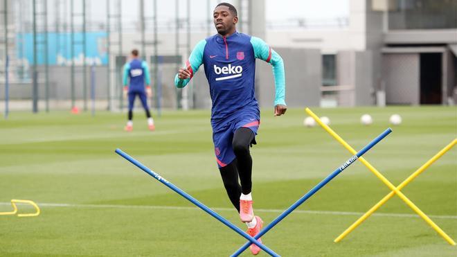 Dembélé vuelve a entrenar con el grupo tras la victoria al Getafe