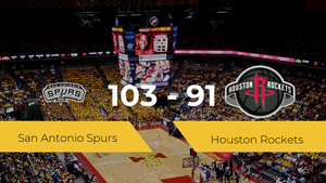 San Antonio Spurs se lleva la victoria frente a Houston Rockets por 103-91