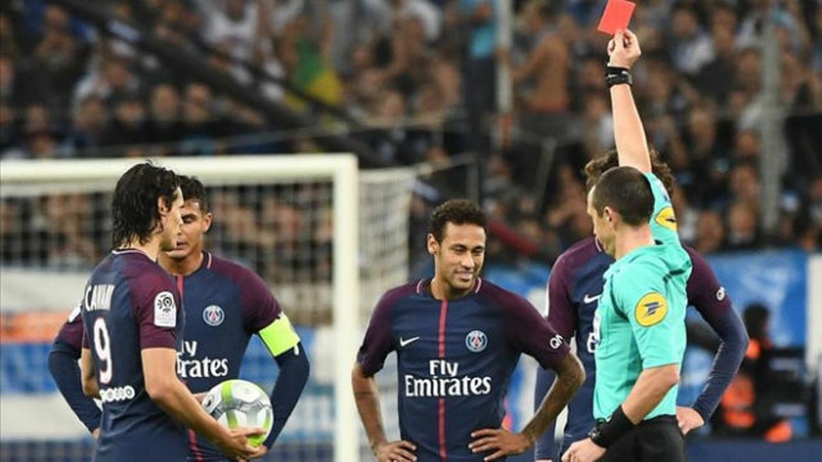 LALIGA FRANCIA   OM - PSG (2-2): Expulsión de Neymar