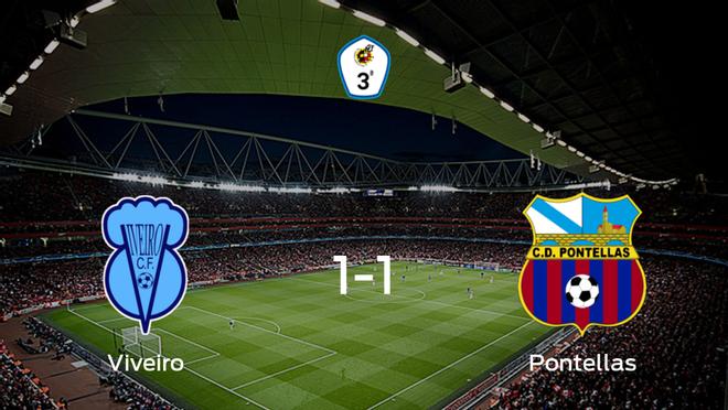 El Pontellas consigue un empate ante el Viveiro CF (1-1)