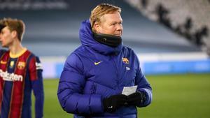 Koeman: Estoy triste, al fútbol se juega para ganar títulos