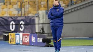 Ronald Koeman, entrenador del Barcelona