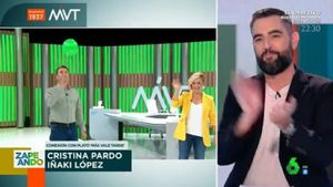 Iñaki López y Cristina Pardo viven en directo su momento más surrealista