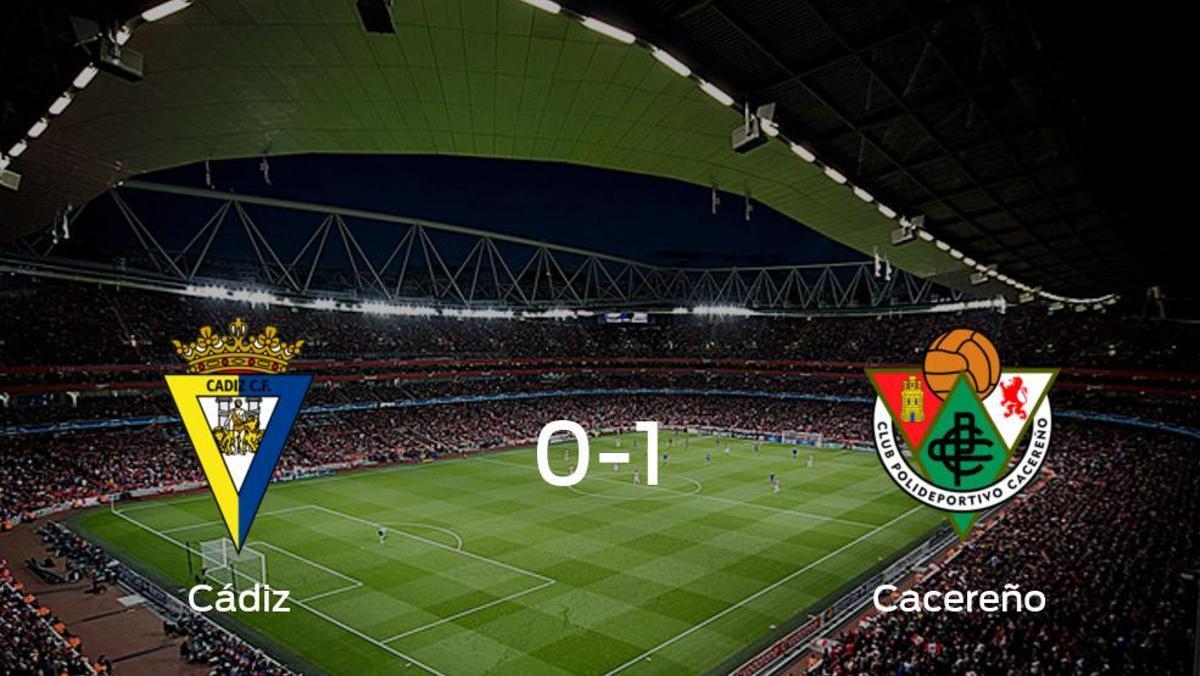 El Cacereño vence al Cádiz B en el Ramón Blanco (0-1)