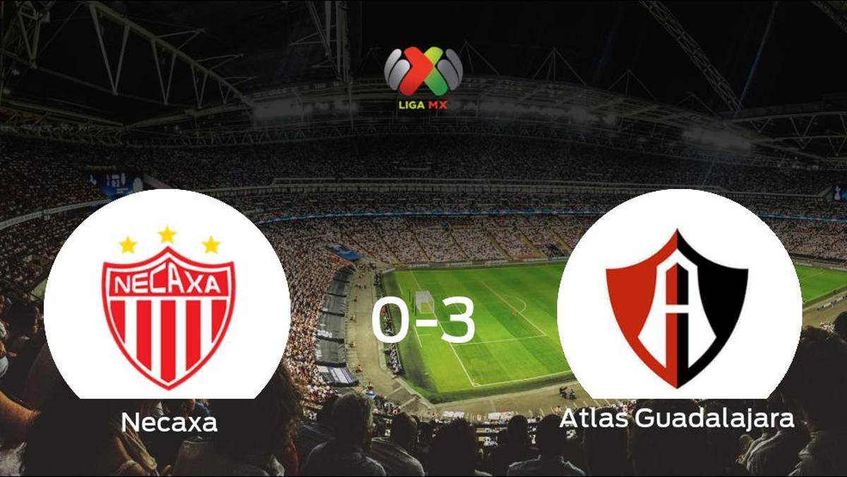 Triunfo del Atlas Guadalajara tras golear 0-3 en el estadio del Necaxa