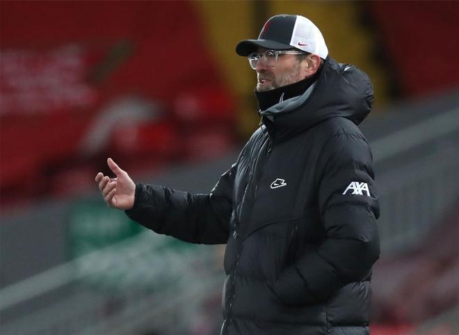 Jürgen Klopp, entrenador del Liverpool, ante el Brighton