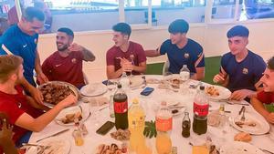 Barbacoa de unión en el Barça B
