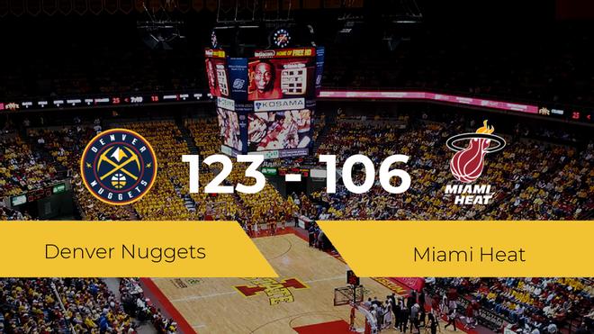 Triunfo de Denver Nuggets ante Miami Heat por 123-106