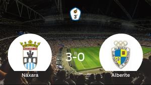 El Náxara se queda con los tres puntos frente al Alberite (3-0)