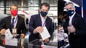 Los tres candidatos a la presidencia del FC Barcelona ya han votado